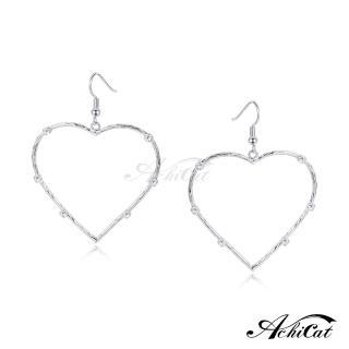 【AchiCat】耳環 正白K 甜美大愛心 耳勾式 G7007推薦折扣  AchiCat
