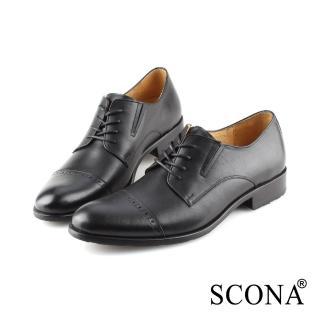 【SCONA 蘇格南】全真皮 都會免拆綁帶紳士鞋(黑色 0861-1)推薦折扣  SCONA 蘇格南