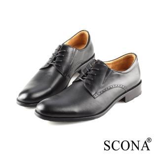【SCONA 蘇格南】全真皮 都會素面免拆綁帶紳士鞋(黑色 0860-1) 推薦  SCONA 蘇格南
