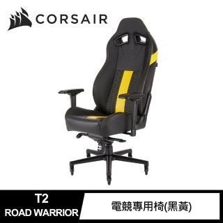【CORSAIR 海盜船】T2 ROAD WARRIOR 電競專用椅(黑黃)  CORSAIR 海盜船