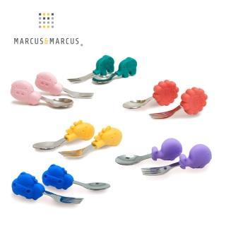 【MARCUS&MARCUS】動物樂園寶寶手握訓練叉匙(多款任選)  MARCUS&MARCUS