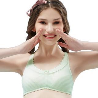 【Swear 思薇爾】小冰冰純真風系列A-B罩無鋼圈背心型包覆內衣(輕綠色)  Swear 思薇爾