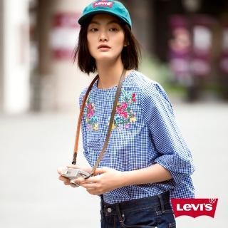 【LEVIS】襯衫 女裝 / 格紋 / 復古花紋刺繡推薦折扣  LEVIS