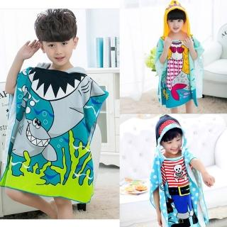 【Baby童衣】兒童 卡通人物造型浴巾浴袍 y7043(共3色)好評推薦  Baby童衣