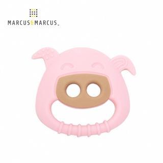 【MARCUS&MARCUS】動物樂園感官啟發固齒玩具(粉紅豬-粉)強力推薦  MARCUS&MARCUS
