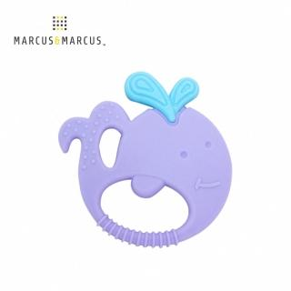 【MARCUS&MARCUS】動物樂園感官啟發固齒玩具(鯨魚-紫) 推薦  MARCUS&MARCUS