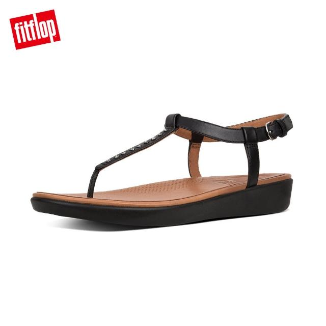 【FitFlop】TIA TM TOE-THONG SANDALS - CRYSTAL(黑色)