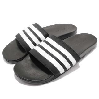 【adidas 愛迪達】涼拖鞋 Adilette Comfort 男鞋 愛迪達 穿脫方便 防水 舒適 穿搭 黑 白(AP9971) 推薦  adidas 愛迪達