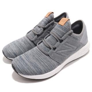 【NEW BALANCE】慢跑鞋 MCRUZKG2D 運動 男鞋 紐巴倫 襪套 透氣 舒適 避震 穿搭 灰 白(MCRUZKG2D)  NEW BALANCE