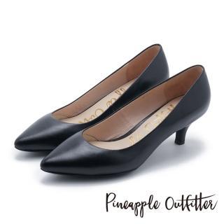 【Pineapple Outfitter】簡約風尚 素面尖頭中跟鞋(黑色)真心推薦  Pineapple Outfitter
