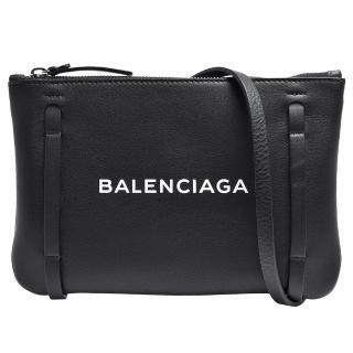 【Balenciaga 巴黎世家】經典EVERYDAY系列品牌字母烙印小牛皮肩/斜背包(黑500979-D6W2N-1000)  Balenciaga 巴黎世家