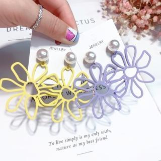 【梨花HaNA】韓國有點小誇張夏日花朵耀眼耳環 推薦  梨花HaNA