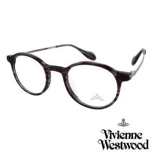 【Vivienne Westwood】英國Anglomania英倫簡約光學眼鏡(褐紫 AN341M03)強力推薦  Vivienne Westwood