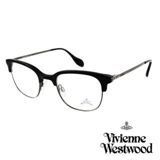【Vivienne Westwood】英國Anglomania英倫簡約眉框設計光學眼鏡(黑 AN342M01)真心推薦  Vivienne Westwood