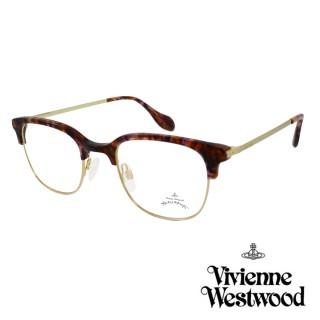【Vivienne Westwood】英國Anglomania英倫簡約眉框設計光學眼鏡(琥珀金 AN342M02)  Vivienne Westwood