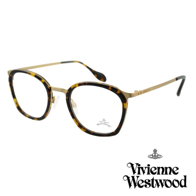 【Vivienne Westwood】英國Anglomania英倫簡約光學眼鏡(琥珀 AN347M02)