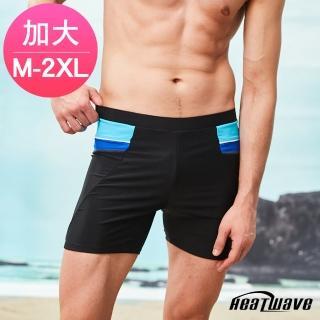 【Heatwave 熱浪】加大男泳褲 二五分平口褲-時尚邊(360-M-2XL)強力推薦  Heatwave 熱浪