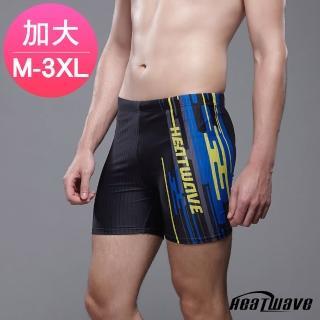 【Heatwave 熱浪】加大男泳褲 五分平口褲-海岸397(M-3XL)  Heatwave 熱浪