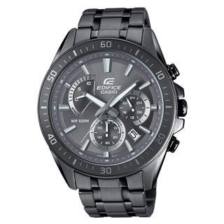 【CASIO 卡西歐】EDIFICE EFR-552GY-8A 三眼賽車男錶 不鏽鋼錶帶 深灰色錶面 防水100米(EFR-552GY-8A)推薦折扣  CASIO 卡西歐