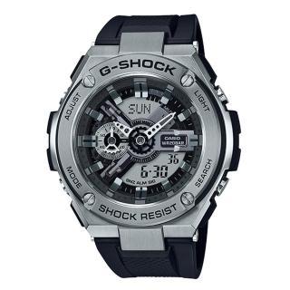 【CASIO 卡西歐】G-SHOCK GST-410-1A 雙顯男錶 樹脂錶帶 銀色錶面 防水200米 世界時間(GST-410-1A)好評推薦  CASIO 卡西歐