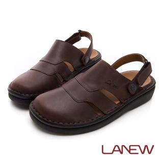 【La new】雙密度PU涼鞋(男224055024)好評推薦  La new