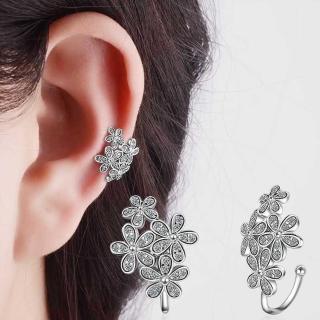 【梨花HaNA】韓國珍稀花簇環繞耳骨夾耳環(一對)  梨花HaNA