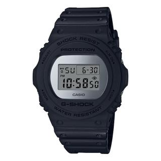 【CASIO 卡西歐】G-SHOCK 樹脂錶帶 復刻經典電子男錶 銀色錶面 防水200(DW-5700BBMA-1D) 推薦  CASIO 卡西歐