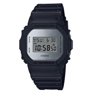 【CASIO 卡西歐】G-SHOCK 復刻經典電子男錶 樹脂錶帶 銀色錶面 防水200米(DW-5600BBMA-1D)  CASIO 卡西歐