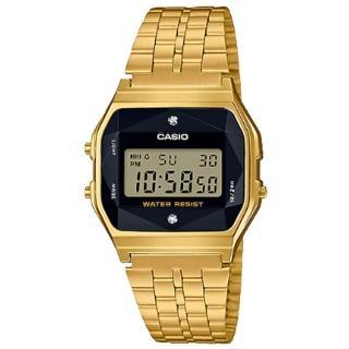 【CASIO 卡西歐】電子男錶 不鏽鋼錶帶 黑色錶面 立體多面切割玻璃(A159WGED-1D)好評推薦  CASIO 卡西歐