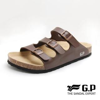 【G.P】男款休閒個性柏肯鞋M367-咖啡色(SIZE:40-44 共二色)好評推薦  G.P