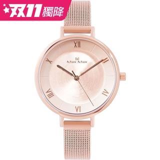 【Max Max】氣質絕美時尚米蘭帶腕錶-玫瑰粉金(MAS7028-3)推薦折扣  Max Max