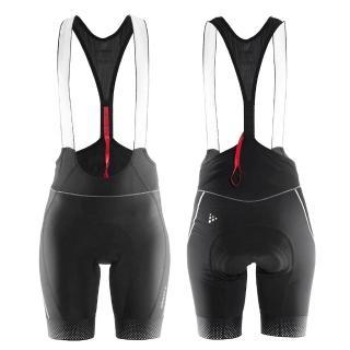 【瑞典 CRAFT】Glow Bibs 女用自行車吊帶短褲 1903276 (黑色)(瑞典 機能 排汗 吊帶車褲 女用)好評推薦  瑞典 CRAFT