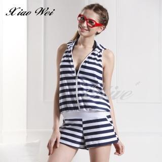 【小薇的店】台灣製泳之美時尚連帽外罩衫(NO.116)  小薇的店