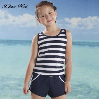 【小薇的店】台灣製泳之美時尚女中童二件式連身褲泳裝(NO.2882H)  小薇的店