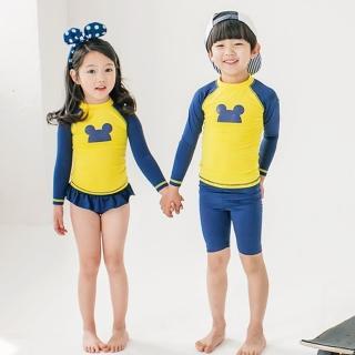【小衣衫童裝】中小男童女童防曬長袖泳裝三件組(1070701)真心推薦  小衣衫童裝