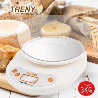 【TRENY】烘焙料理秤(大托盤) 3KG推薦折扣  TRENY