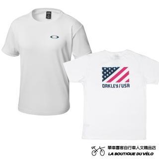 【Oakley】ENHANCE TECHNICAL TC TEE.18.02(日本限定版 男款背後美國國旗印花短T恤)  Oakley