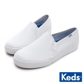 【Keds】經典皮革舒適休閒便鞋(白)推薦折扣  Keds
