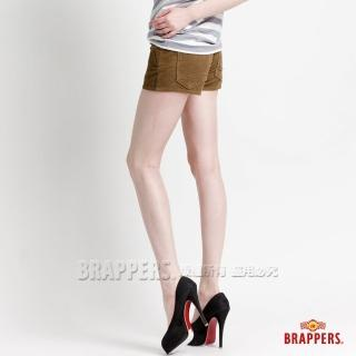 【BRAPPERS】女款 Boy Friend Jeans系列-彈性條絨短褲(淺綠)  BRAPPERS