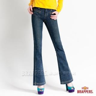 【BRAPPERS】女款 新美腳系列-彈性大靴型褲(漸層藍)好評推薦  BRAPPERS