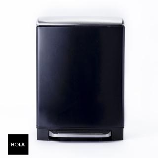 【HOLA】赫拉方形緩降防指紋垃圾桶12L紫  HOLA