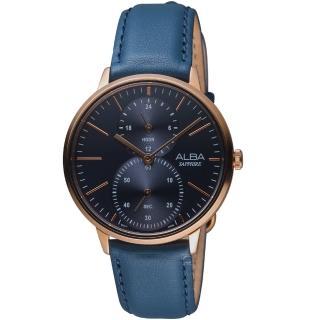 【ALBA】日系生活時尚腕錶(VD77-X007B A3A018X1 藍色) 推薦  ALBA