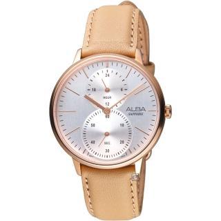 【ALBA】日系生活時尚腕錶(VD77-X007J A3A020X1 膚褐色) 推薦  ALBA