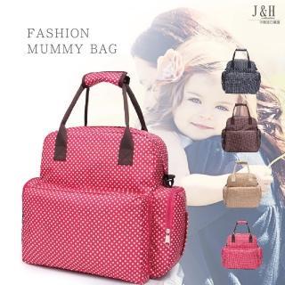 【J&H collection】歐美熱銷時尚媽咪外出單雙肩包(黑 / 紅 / 咖啡 / 米白)  J&H collection
