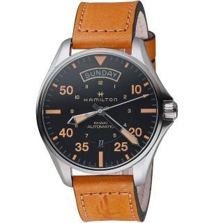 【HAMILTON 漢米爾頓】卡其航空系列DAY DATE AUTO機械腕錶(H64645531)  HAMILTON 漢米爾頓