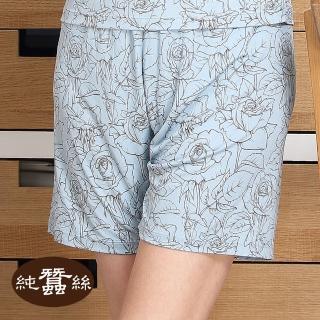 【岱妮蠶絲】純蠶絲42針110G印花短褲(湖水綠)好評推薦  岱妮蠶絲