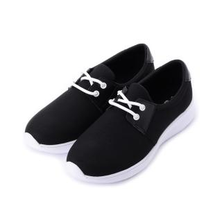 【鞋全家福】23-25cm 女鞋 雙孔綁帶休閒鞋 黑 鞋全家福(MIO7705黑)  鞋全家福