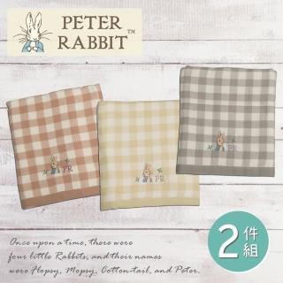 【PETER RABBIT 比得兔】比得兔 紗布無捻精繡浴巾2件組(高質感精品)強力推薦  PETER RABBIT 比得兔