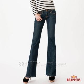 【BRAPPERS】女款 女垮褲系列-女用小喇叭褲(深藍)  BRAPPERS
