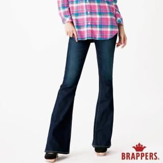 【BRAPPERS】女款 新美腳Royal系列-彈性鑲鑽大喇叭褲(藍)  BRAPPERS